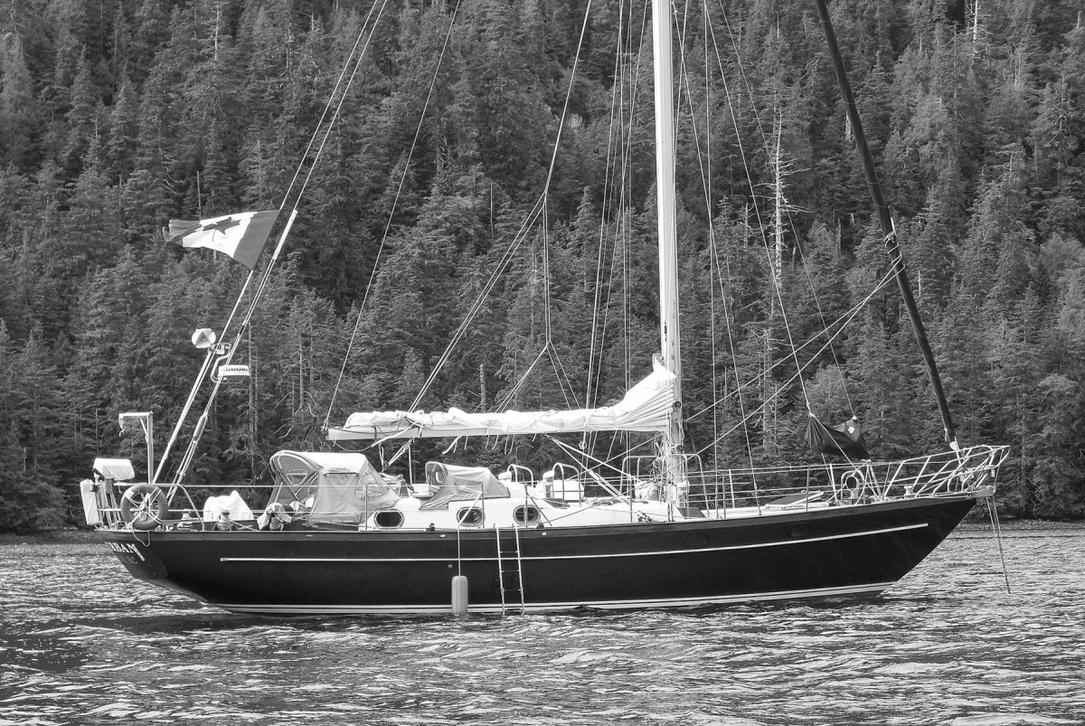 Bert ter Hart completed the circumnavigation aboard his OCY 45.