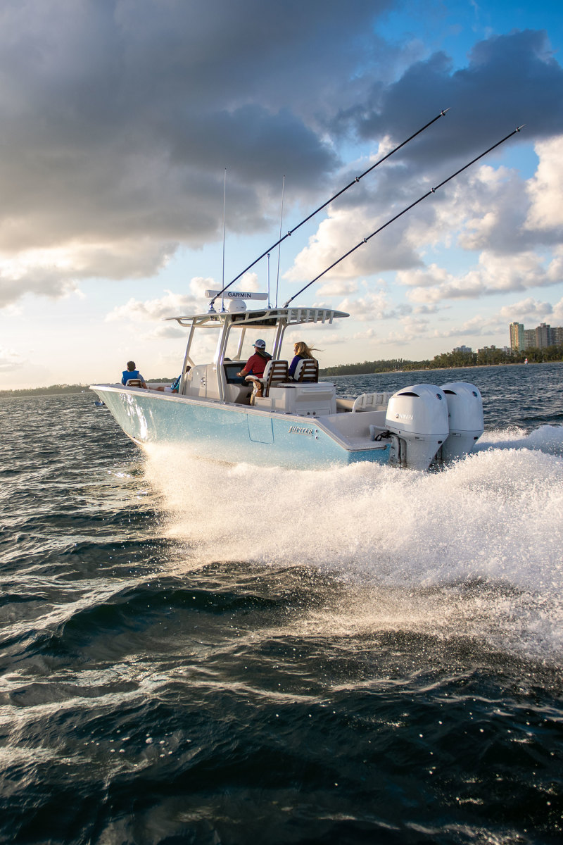 The Jupiter 32 is a proven, rough-water boat.