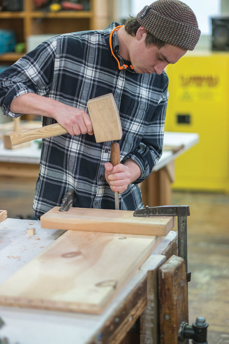 Learning how to use and maintain tools is a significant part of the learning process at NWSWB.