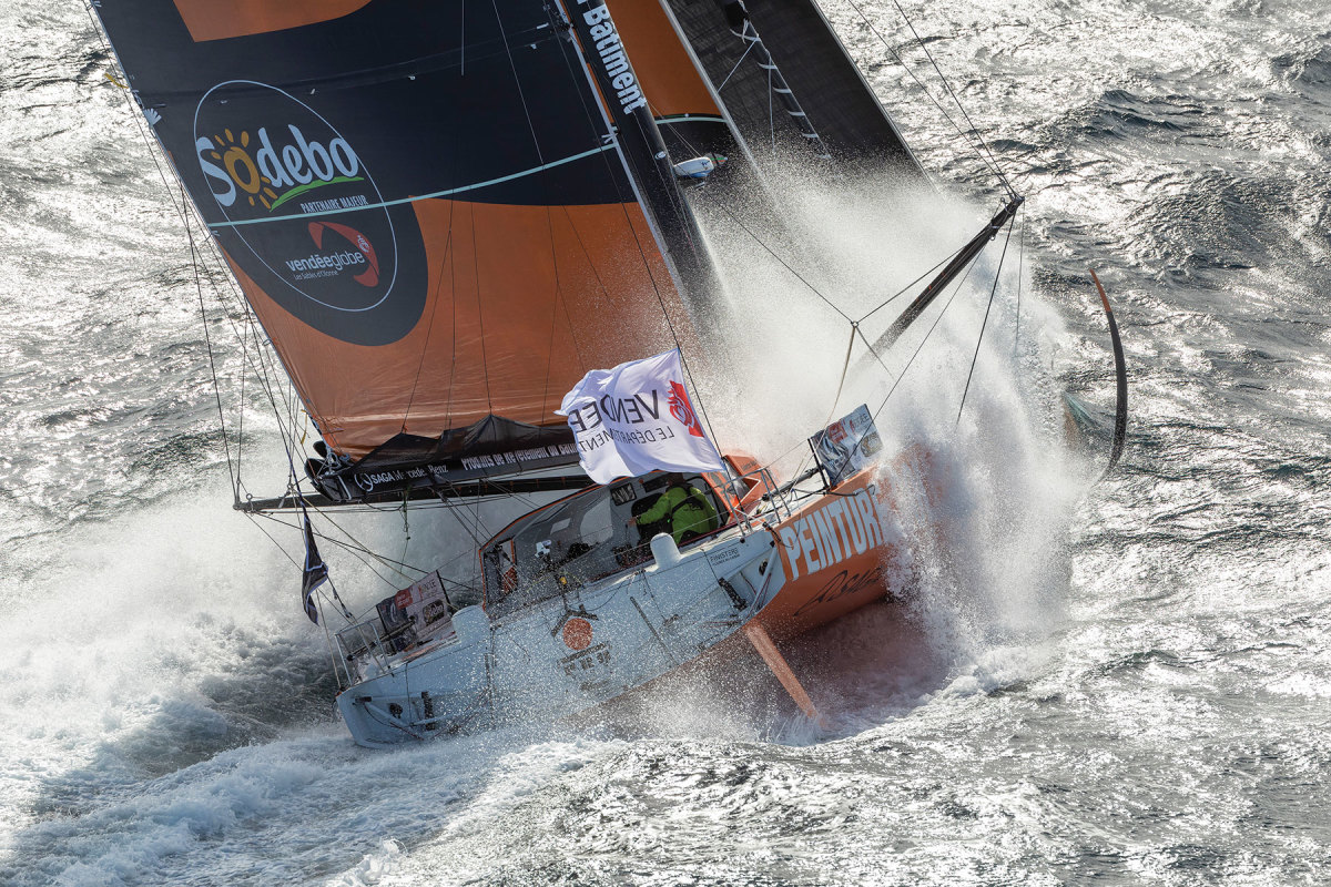 Shown last summer, the foiling Imoca 60, PRB, would later nosedive into a Southern Ocean wave at 27 knots, fold in half and force Kevin Escoffier into his life raft.