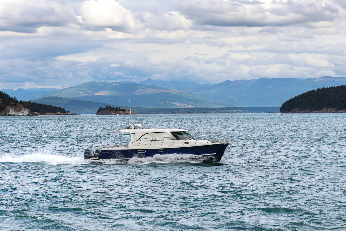 With its seaworthy, efficient hull and its spacious, practical accommodations, the new Aspen C108 is ready to cruise anywhere adventurous owners can dream of, from the Caribbean to the Arctic.