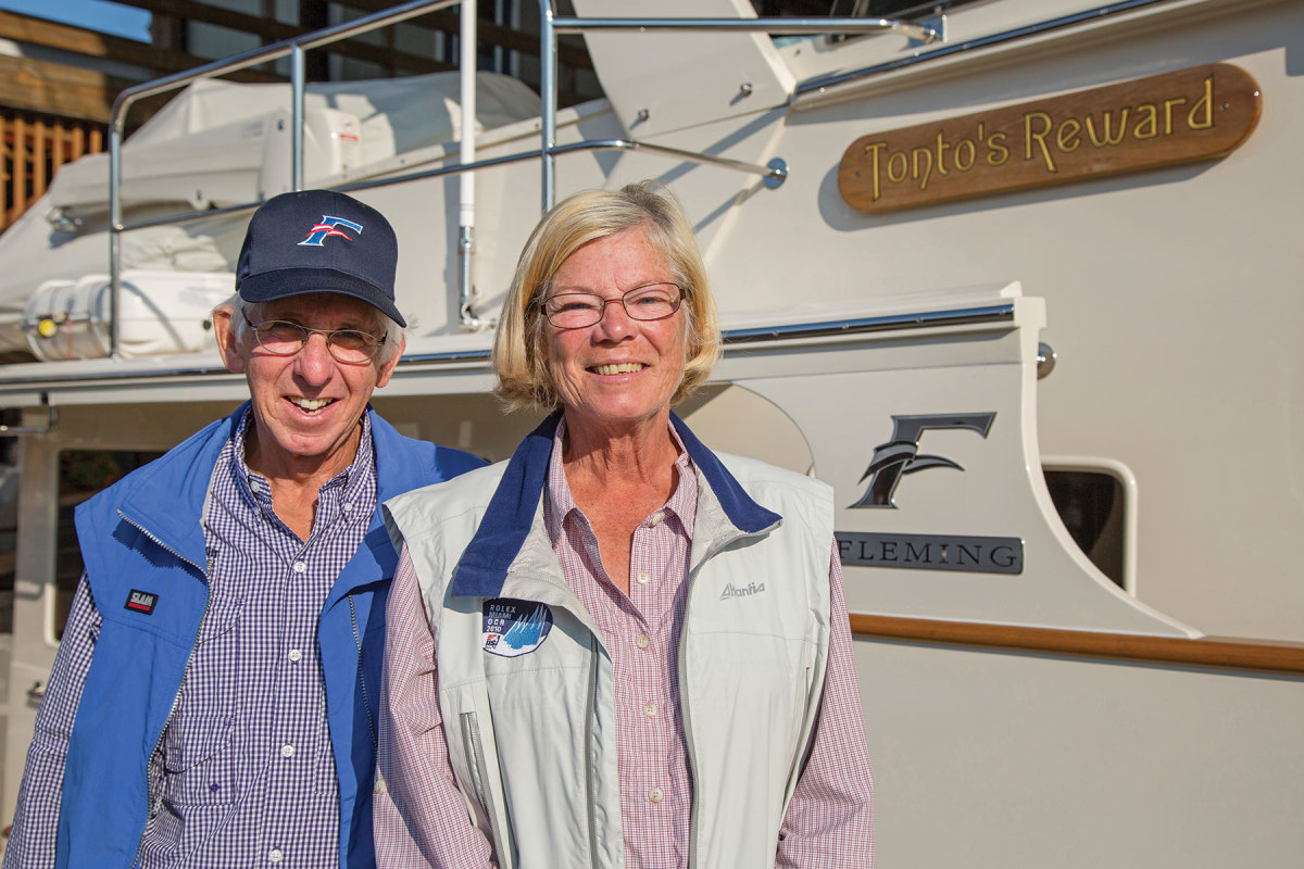 Gail and David Bernstein bought a new Fleming 55 after owning a pre-cruised one.