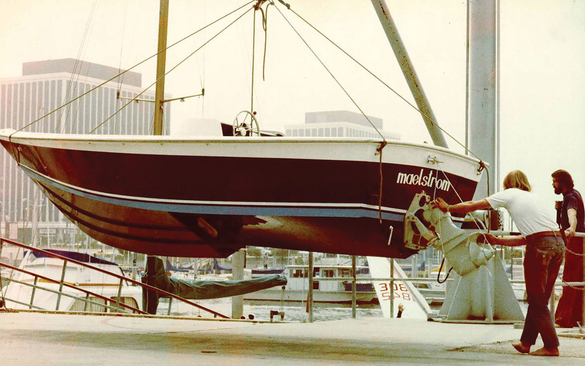 Maelstrom featured the designer's first stepped hull