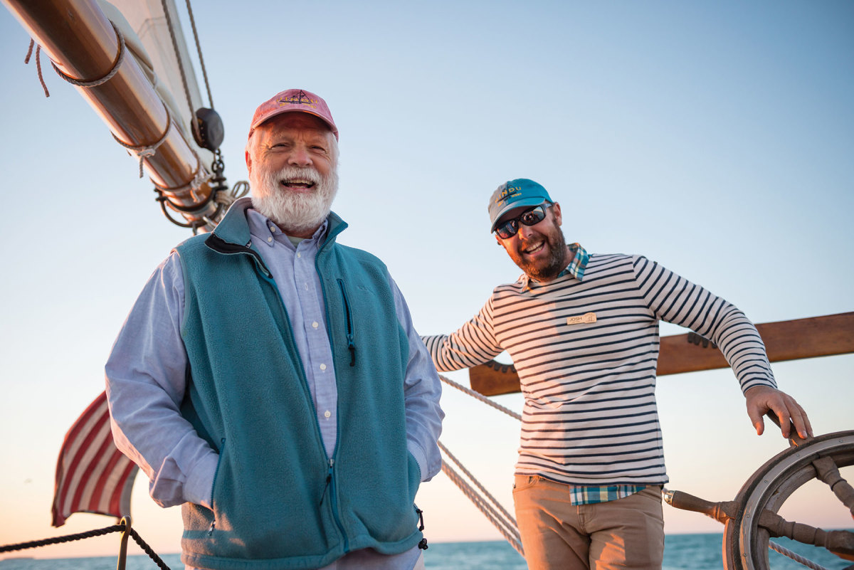 Bill Rowan purchased the schooner in 2011; his son Josh is in charge of her.
