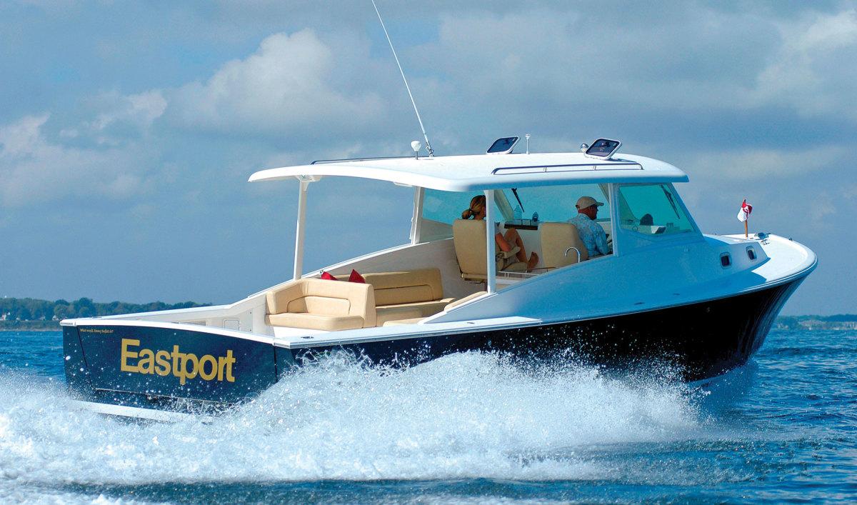 The Eastport 32 have deadrise workboat design cues.