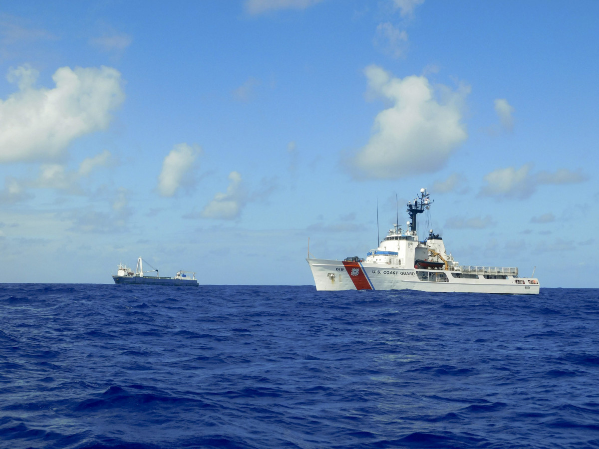 The USCG rescued the MV Alta's crew in 2018