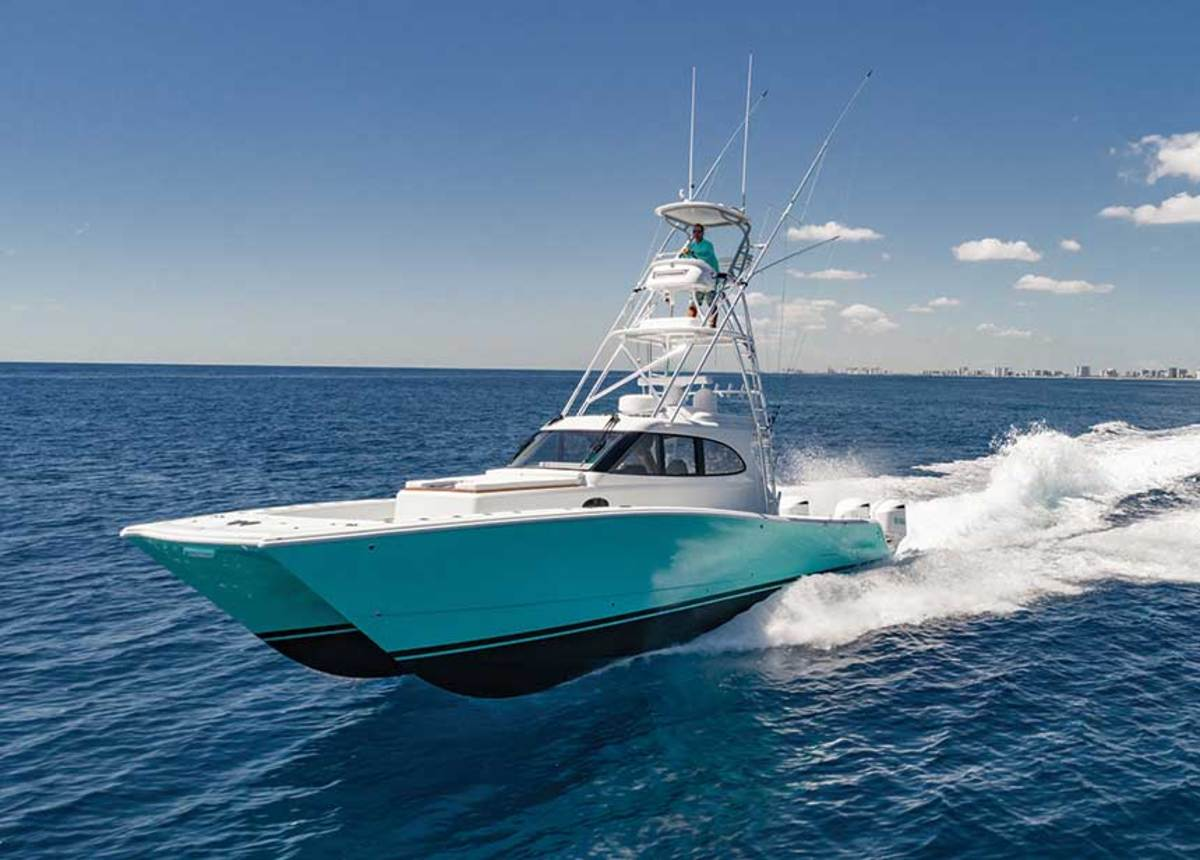 Jimmy Buffett's new Freeman 44 Pilothouse can get him to the fishing grounds at 50 knots.