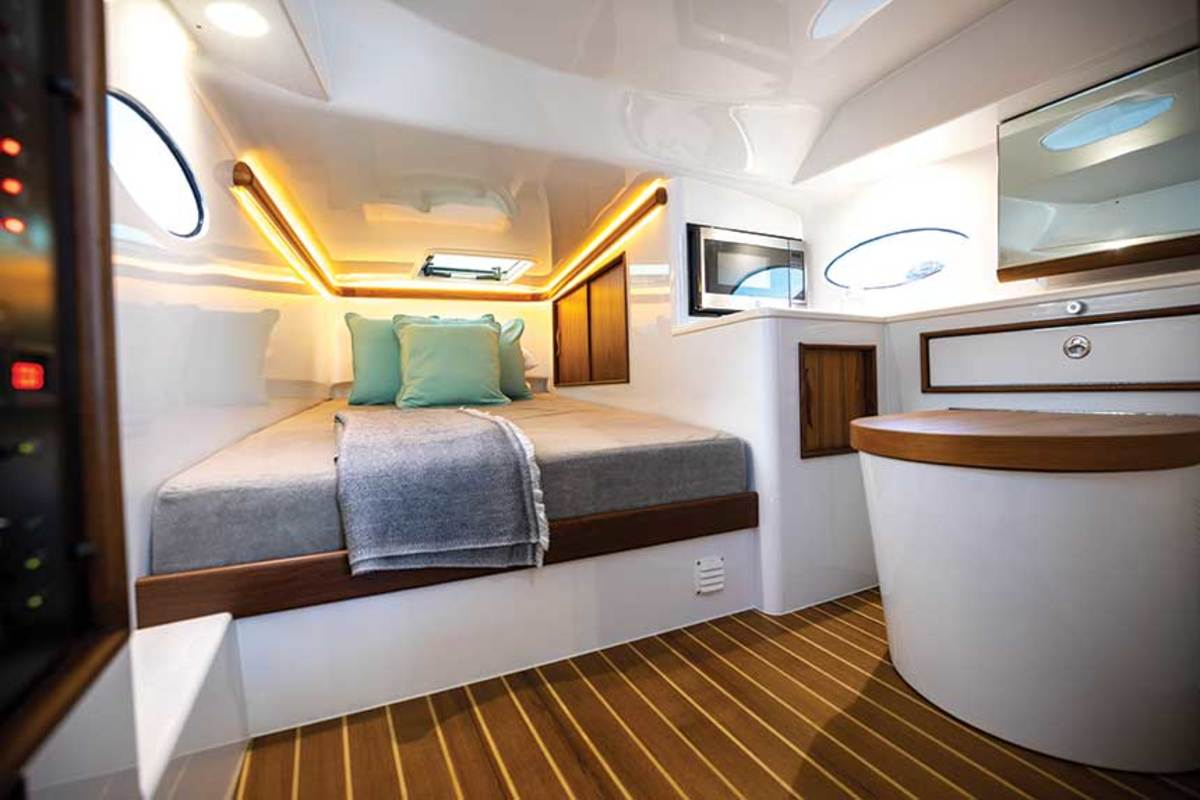 Buffett wanted the interior of the Freeman 44 Pilothouse kept simple.