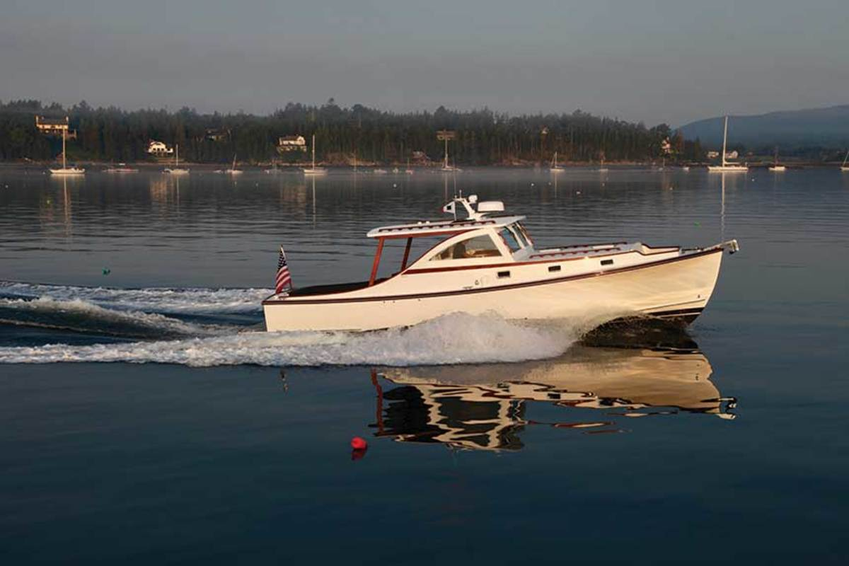 Boaters from around the country charter powerboats from Ellis for the chance to cruise along the coastof Maine.