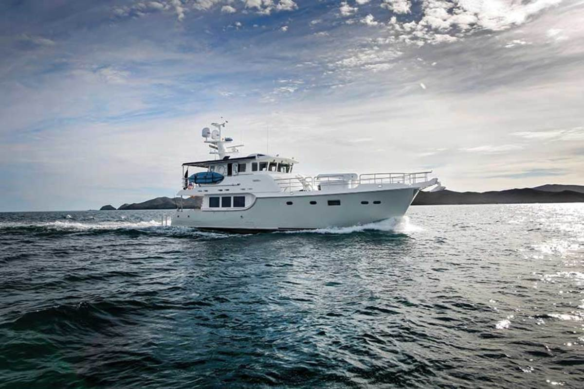 The Nordhavn 63 has a proven displacement hull.