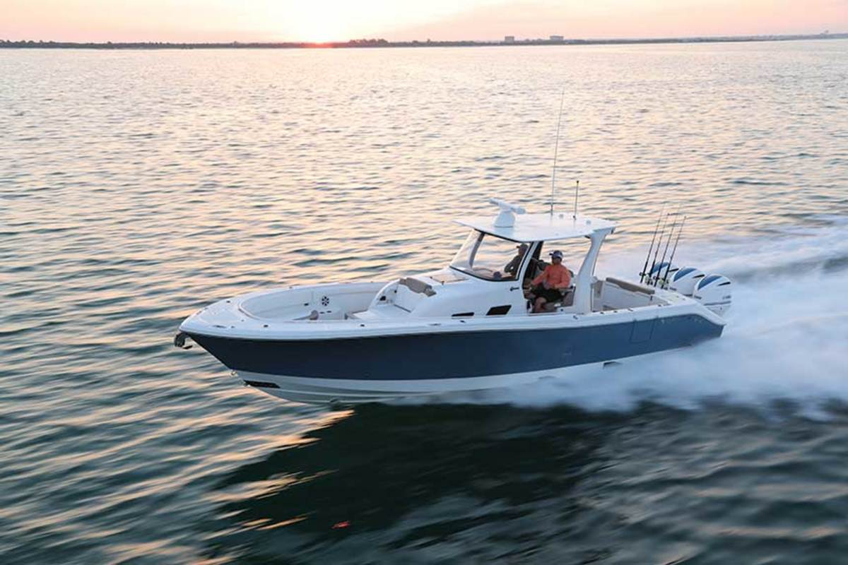The Edgewater 37o's stepped hull gives it  a higher top speed.