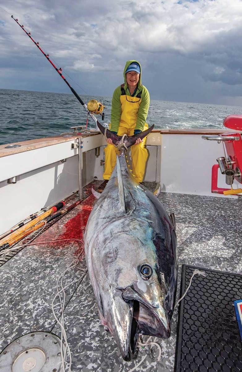 Gardner caught this 400-pound bluefin tuna in March 2019.