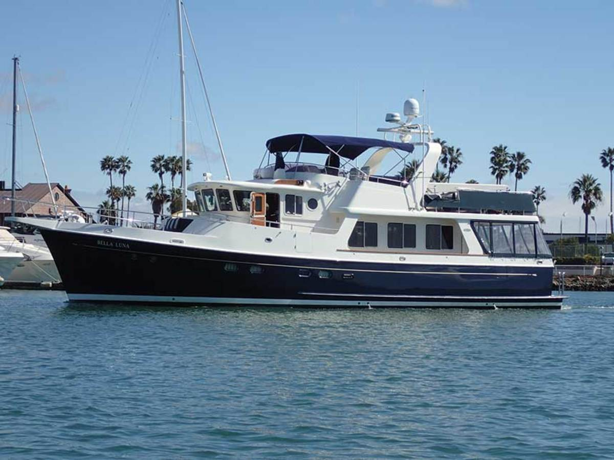 A broker helped the Piwowarczyks find their dream boat, a Selene 55, near Santa Barbara, California.