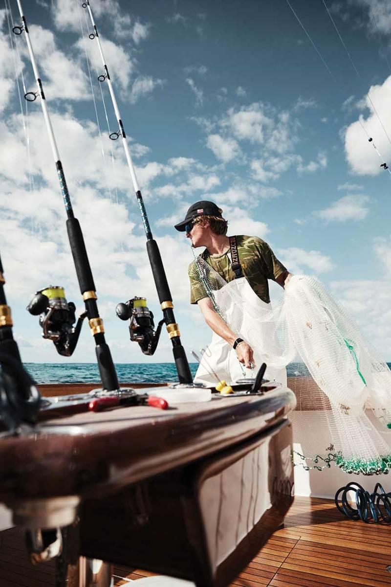 Cast-netting for bait