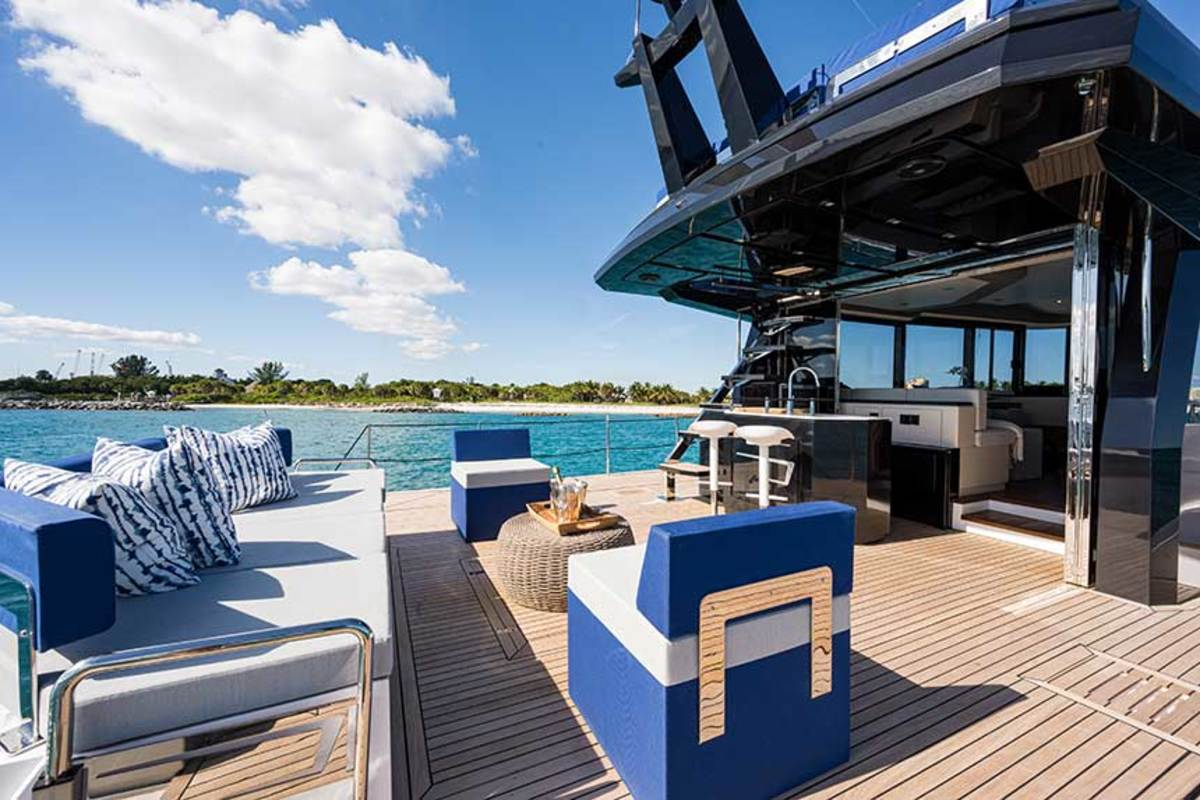 There's movable seating, a bar and plenty of room for activities on the aft deck