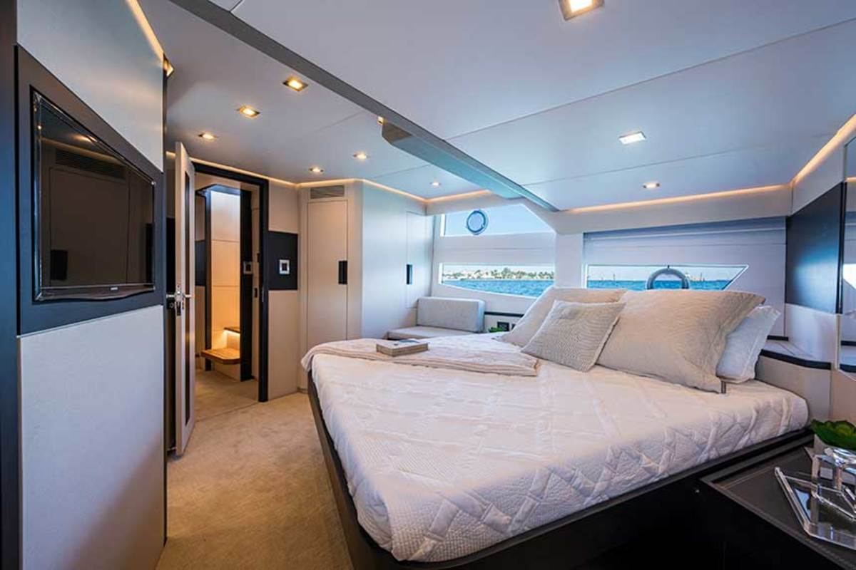 One of the en suite staterooms