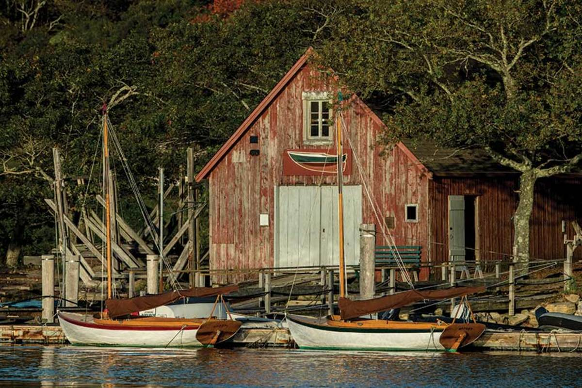This page: Hadley Harbor offers no amenities, other than free moorings. You go there for the quiet.