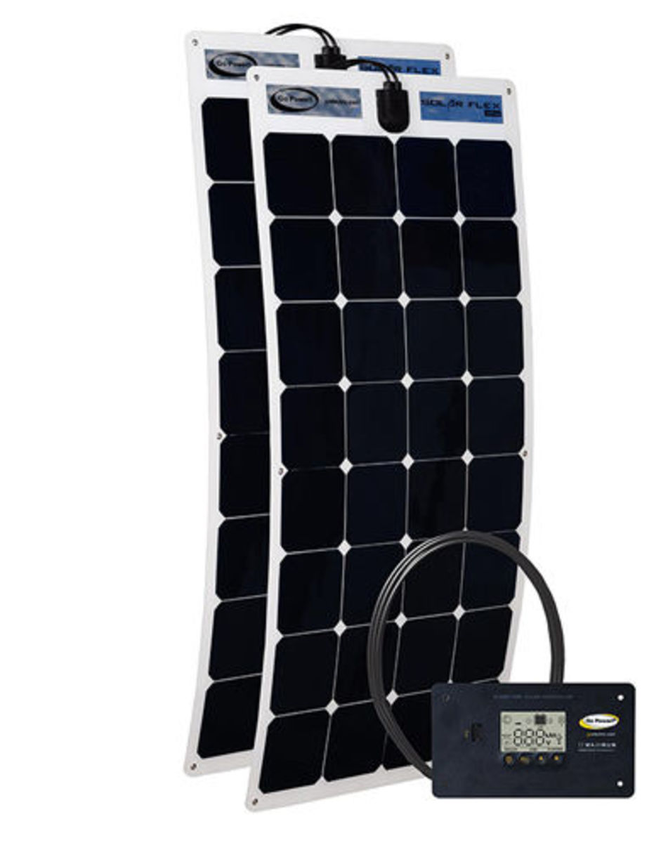 The power behind the monocrystalline cells on the flexible solar panel can charge batteries up from near death.