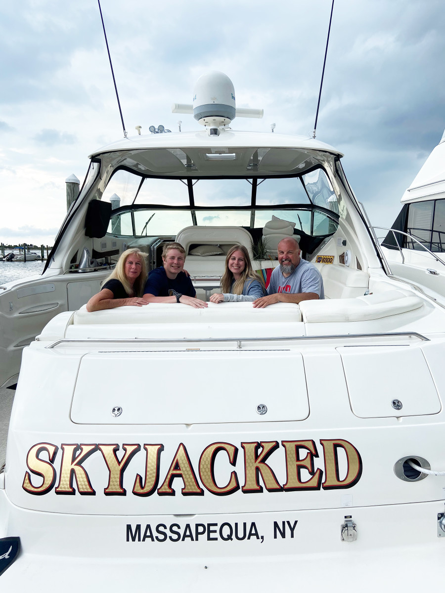 Stephen Daresta loves to travel and spend as many summer nights on board his boat as possible with his wife, Pat, and their children, Jack and Schyler, after whom the boat is named.