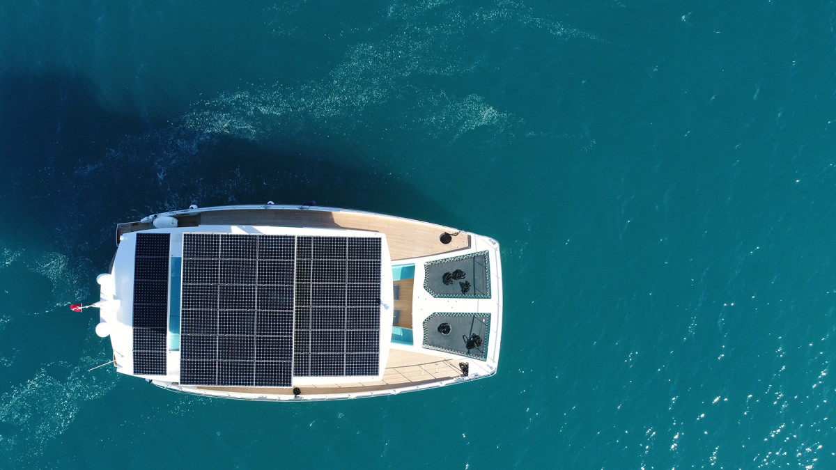 The solar panel array