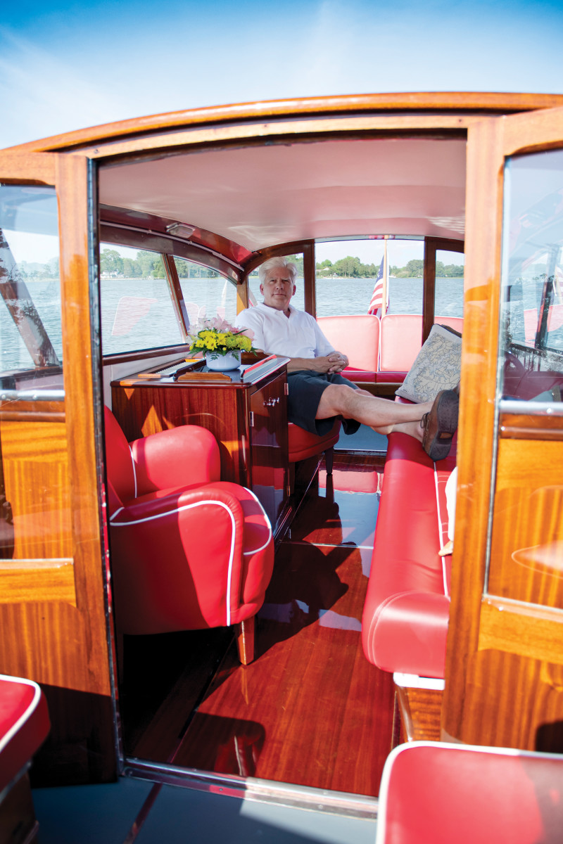 Joe Robillard is a collector of classic boats. Intermezzo is an elegant addition to his fleet.