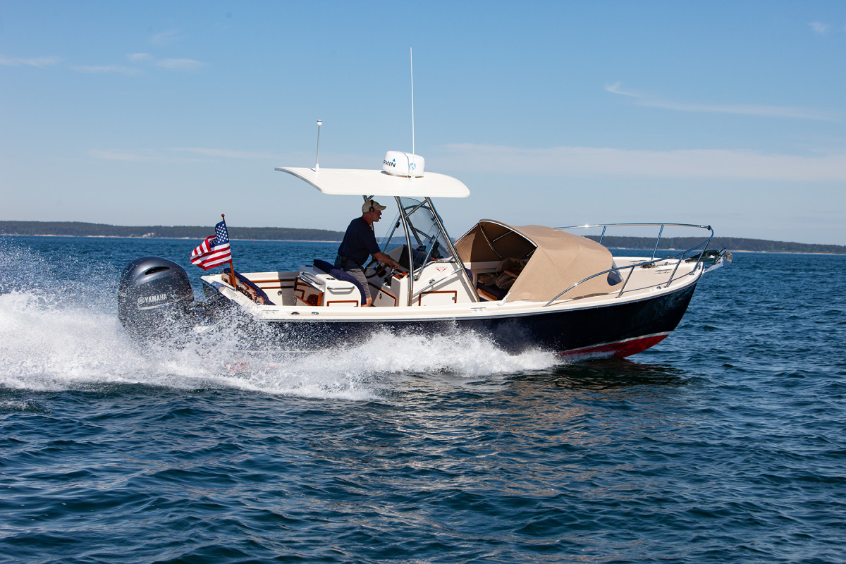 The Padebco 23 is the boatbuilder's most popular model.