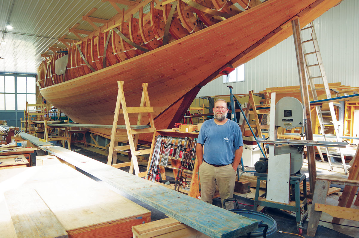 Dave Snediker is managing the restoration of Doris at his yard in Old Mystic, Connecticut.