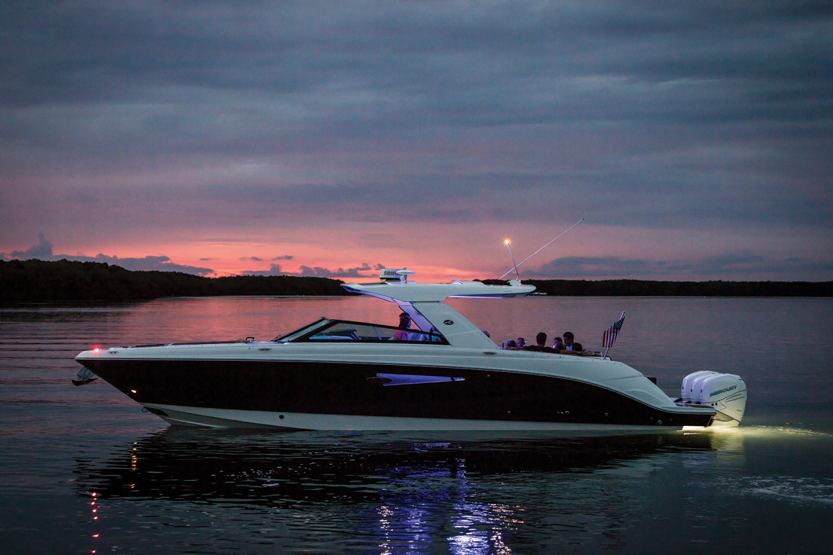 Fathom e-Power is now available as an option to replace the 7.5-kW generator on Sea Ray's SLX 400 Outboard with a bank of Mastervolt LiFePO4 batteries.