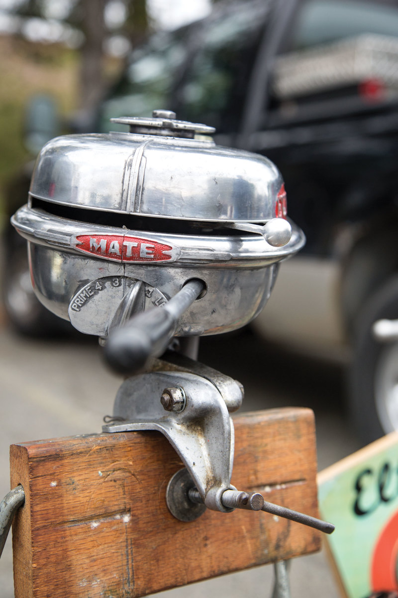 This Evinrude Mate was built in the late 1930s.