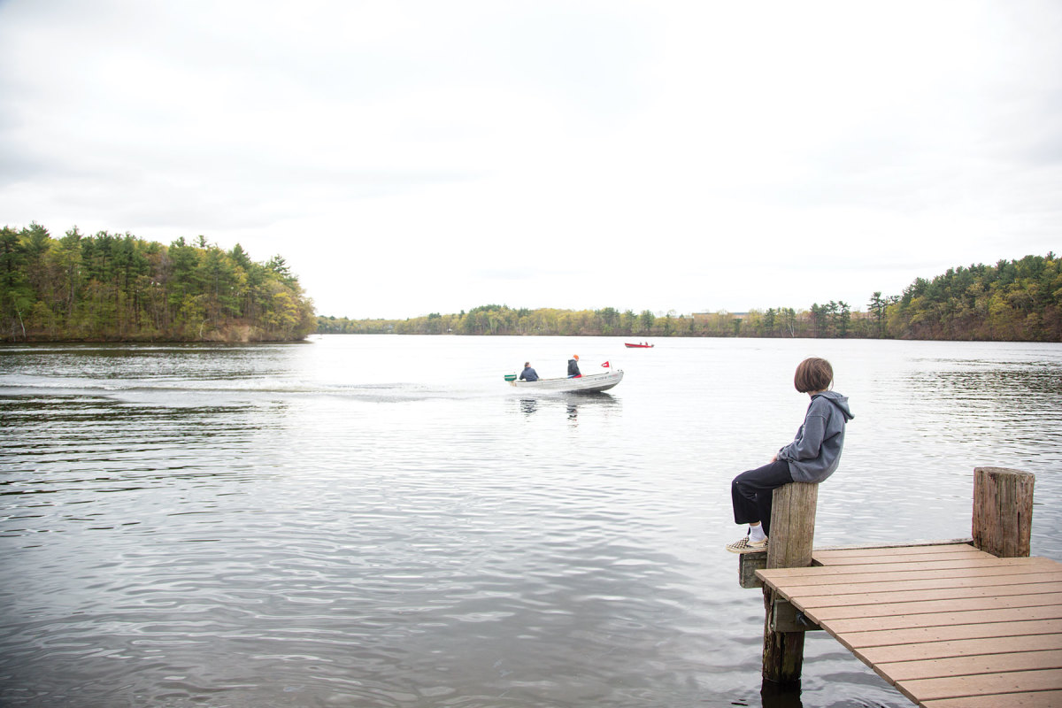 """At a recent """"wet meet"""" in Natick, members paired antique outboards with boats of all shapes and sizes"""
