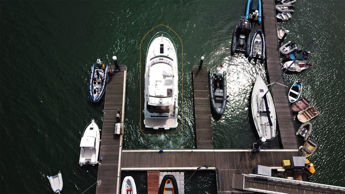 DockSense is an object recognition and motion-sensing system that can hold a boat a foot off a dock for hours.