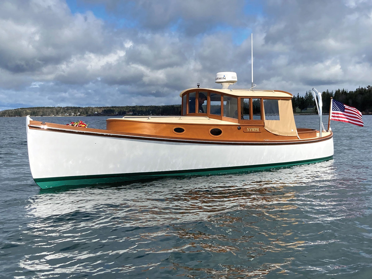 The Aroha 29 was built from a CNC kit at Brooklin Boat Yard