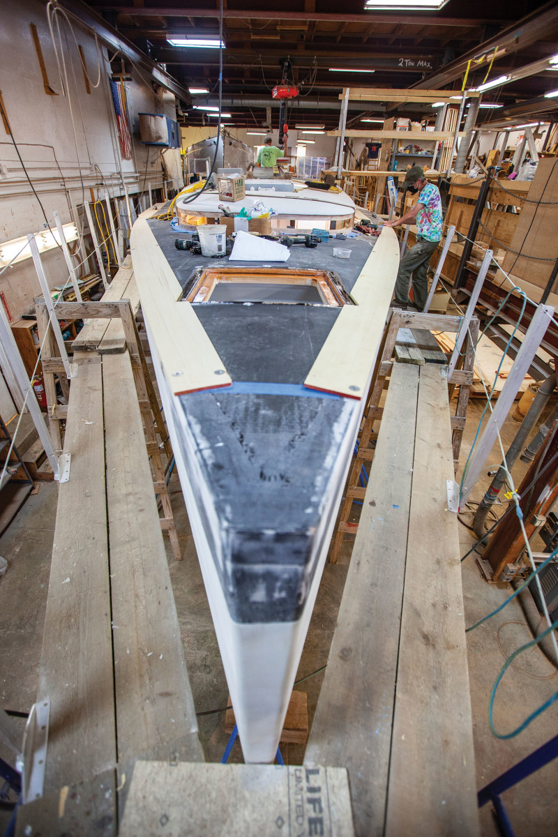 Rockport Marine was contracted to build a Bill Tripp-designed 45-foot sailboat.