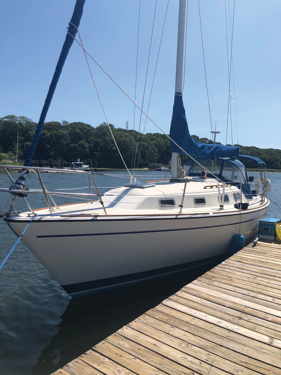 Russo's brother and nephew bought this vintage Pearson 303 after carefully calculating the potential cost to upgrade and maintain the sloop.