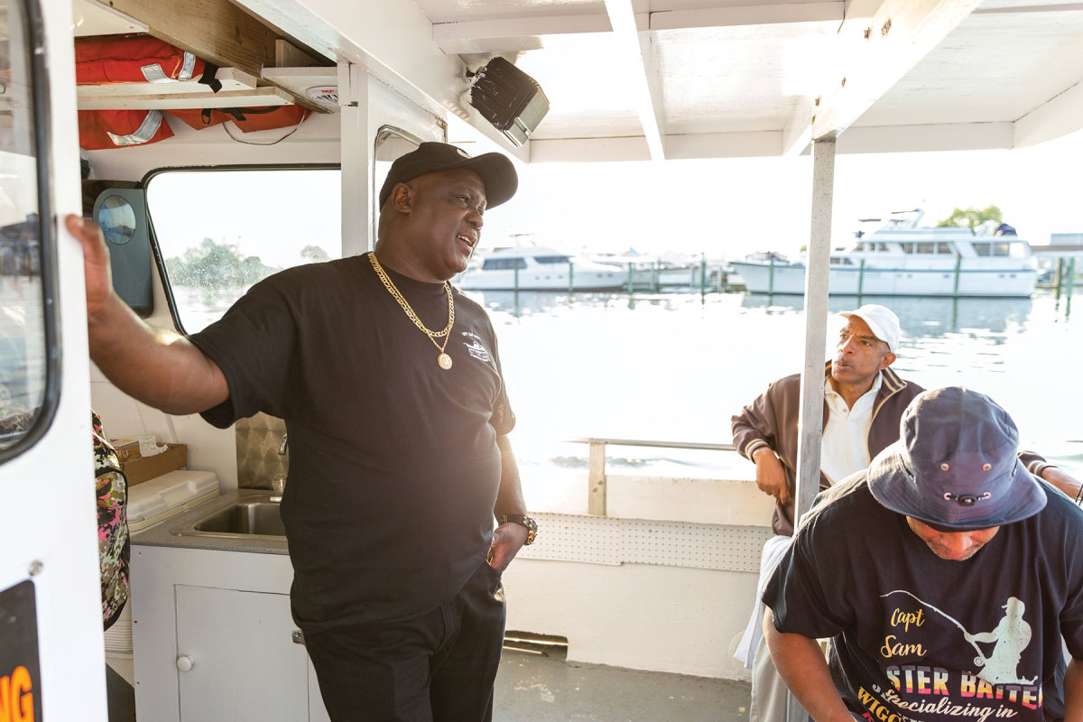 Lamont Wright's father  taught him how to run a head boat, and his son is about to become a captain, too.