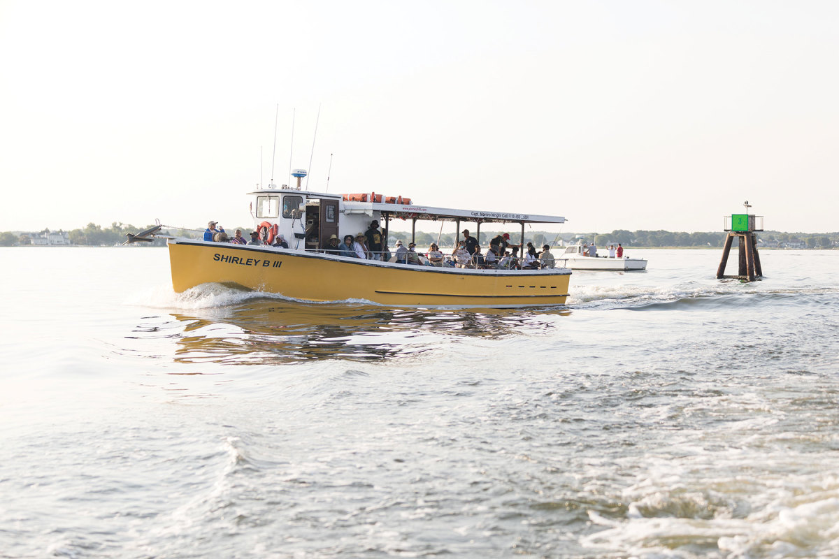The Shirley B III runs along with a load of clients.