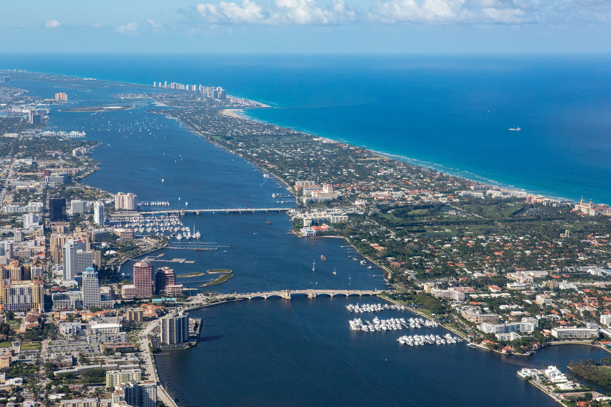 The Town Marina (shown at lower right), the only public marina on the island of Palm Beach, Florida, needed an upgrade.